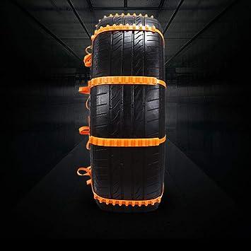 Cadenas de nieve antideslizantes para neumáticos de automóviles, cadenas de nieve de invierno 10PCS, cadenas de nieve antideslizantes y guantes de trabajo ...
