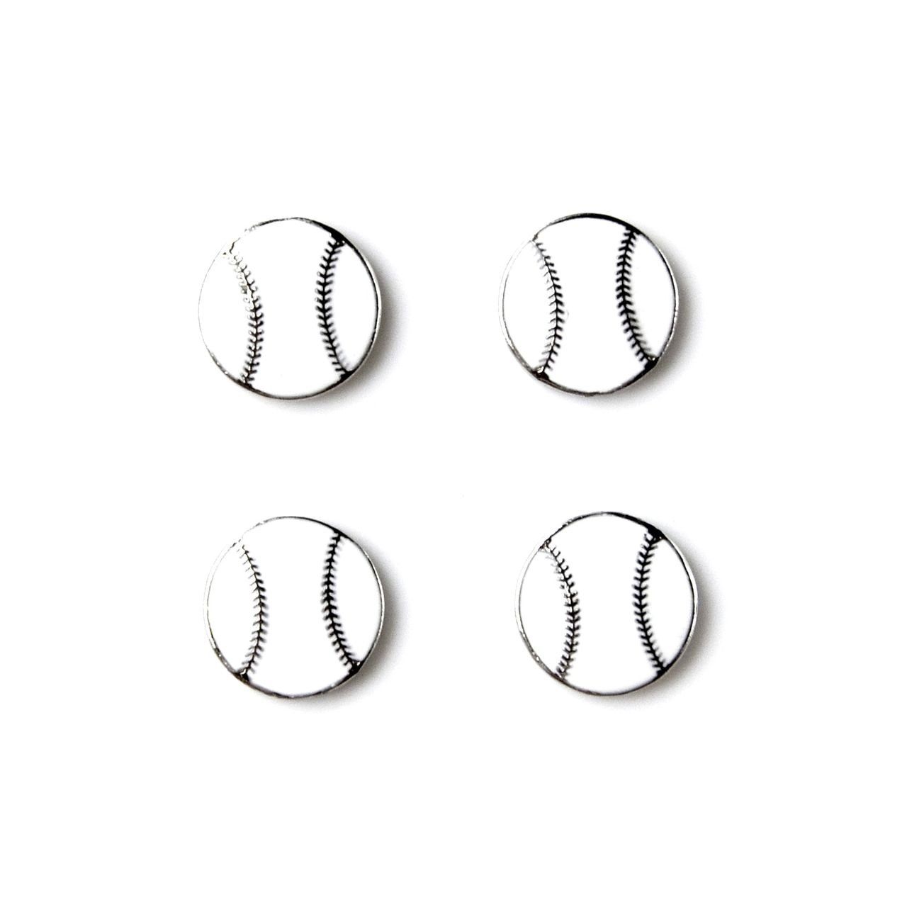 Quality Handcrafts Guaranteed Baseball Tuxedo Studs