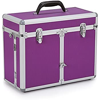Top Performance Professional Grooming Tool Cases - Durable and Versatile Aluminum Cases Designed for the Storage of Grooming Tools and Supplies for the Professional Pet Groomer, Purple