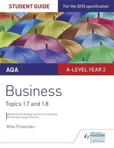 [Read] Aqa A-Level Business Student Guide 3: Topics 1.7-1.8student Guide 3 K.I.N.D.L.E
