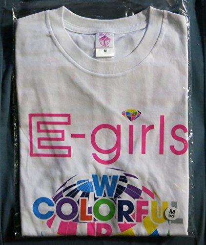 E-girls LIVE TOUR 2015 COLORFUL WORLD ツアーTシャツ ホワイト サイズMの商品画像