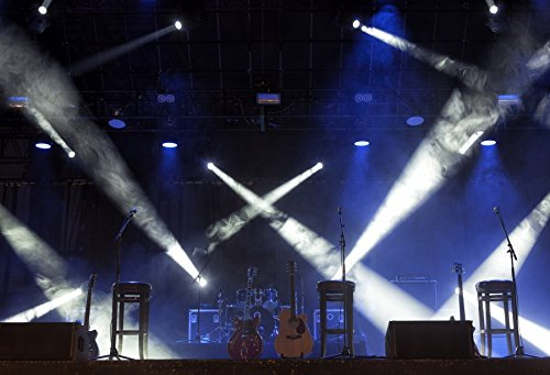 Yeele 10x8ft Band Stage Backdrop Spotlight Nightclub Show Rock Guitar Singing Performance Photography Background Adult Portrait Photo Booth Video Shooting Vinyl Wallpaper Photocall Studio Props
