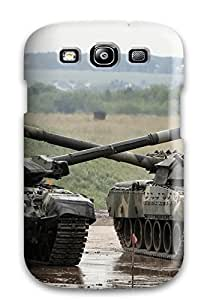 Cheap Galaxy S3 Case Cover - Slim Fit Tpu Protector Shock Absorbent Case (tank) 6134766K52191685