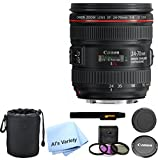 Canon EF 24-70mm f/4.0L IS USM Standard Zoom Lens Kit - International Model