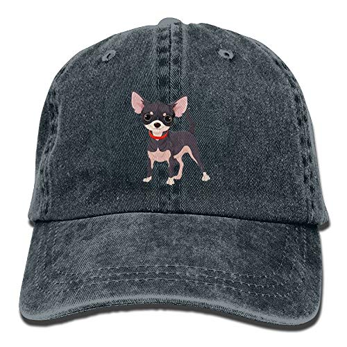 IEHFE Men Women Classic Denim Chihuahua Adjustable Baseball Cap Dad Hat Low Profile Perfect For Outdoor