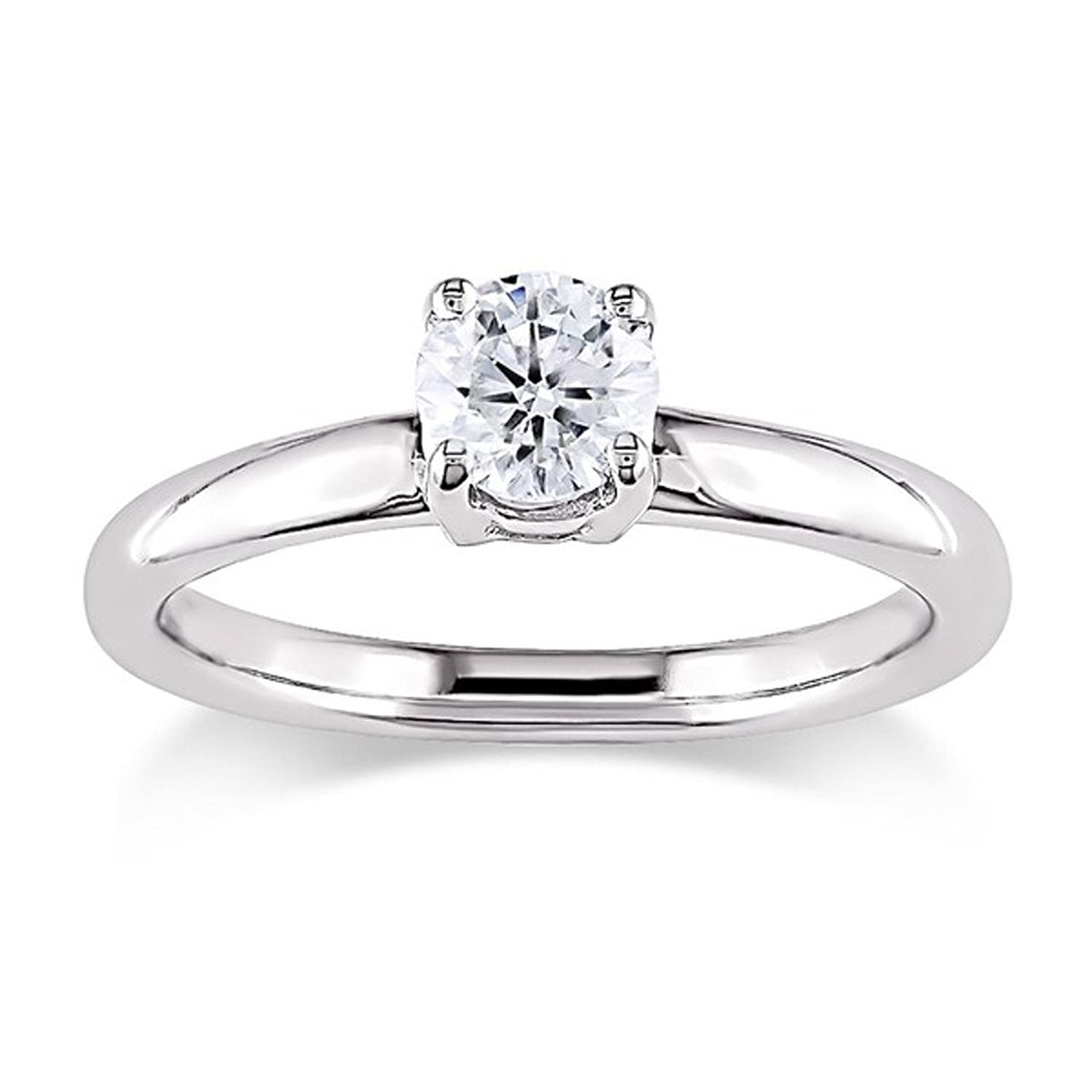 Diamond engagement ring with 1 5 carat SI Clarity natural diamond
