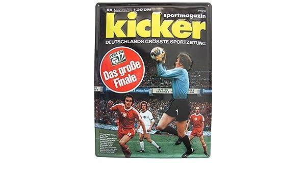 Kicker – Revista Deporte WM 74 Cuaderno 8 – Cartel de Chapa 39 x ...