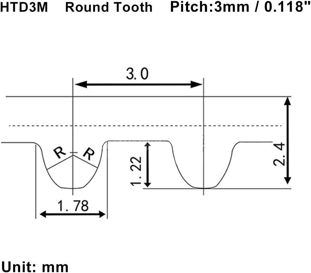 sourcing map Zahnriemen S3M 100 Z/ähne Motor Gummi Zahnriemen 300mm Umfang 10mm Breite