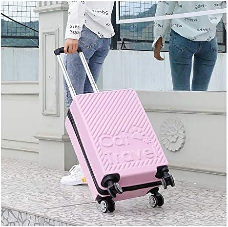 ホイールジッパースーツケース,パスワードボックス トラベルギア ビジネス 機内持ち込み ユニセックス ジッパー耐衝撃キャリーケース静音超軽量出張(ピンク) (Color : Pink, Size : 40.5*26.5*64cm)