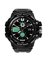 Changeshopping(TM) Multi Function Military S-Shock Sports LED Analog Digital Waterproof Alarm Watch