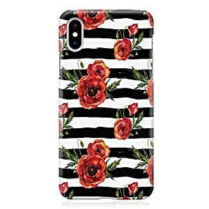 Loud Universe Phone Case Fits iPhone XS Wrap Around EdgesElegant Black Rose Phone Case Trendy Pattern iPhone XS Cover
