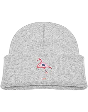 Fashion Argentina Flamingos Printed Teething Baby Winter Hat Beanie