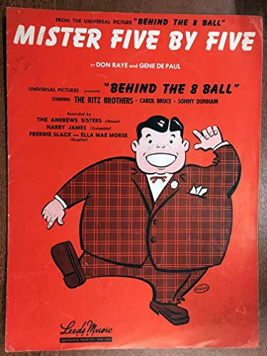 Mister Five By Five By Don Raye And Gene De Paul Sheet Music