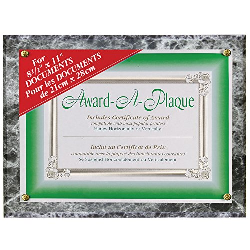 NuDell Award Plaque 8.5 x 11 Inches, Black Marble (18815M)