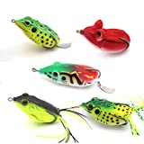 Best Zoom Bait Topwater Lures - Topwater Frog Lures Kit,Soft Fishing Lure Kit Review