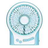 Portable Fan, WinnerEco USB Li-Ion Battery Rechargeable Fan 3 Modes Speed(Light Blue)(With Battery)