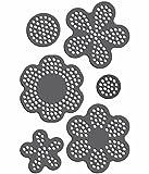 Rhinestone Genie Flowers 002 Magnetic Rhinestone Template