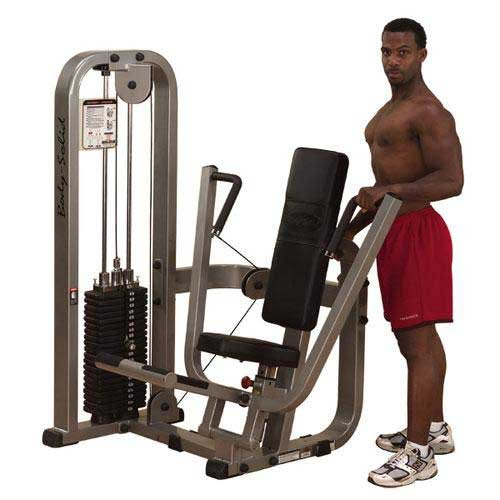 Body Solid Pro Club Line SBP100G2 Chest Press Machine with 210 Pound Weight Stack