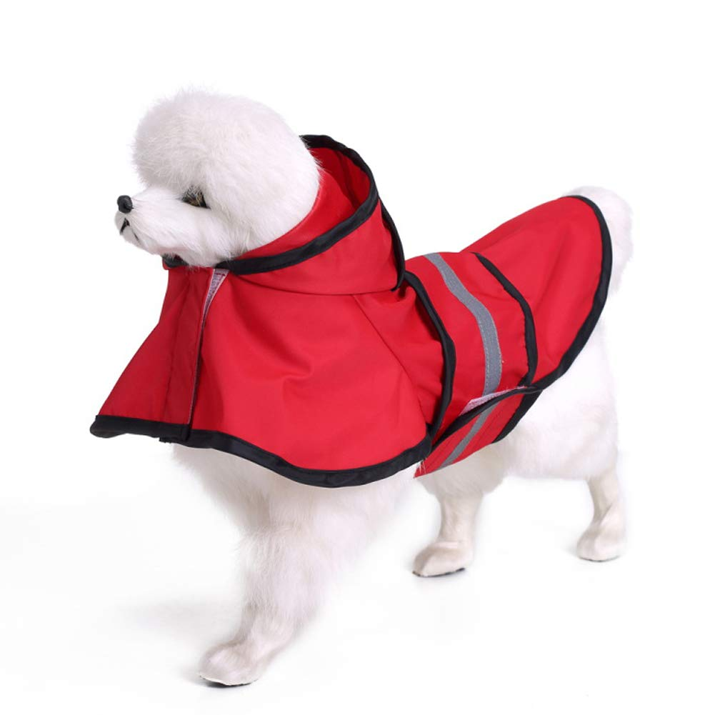 Red XXXXL Red XXXXL Pet Fashion Rainy Day Flashing Reflective Strip Safety Raincoat,Red,XXXXL
