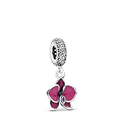 3557added Amazon.com: PANDORA Orchid Dangle Charm, Sterling Silver, Cubic Zirconia,  One Size: Jewelry