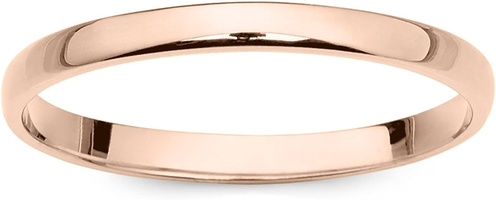Details about  /Women/'S 10K Rose White Or Yellow Gold 6Mm Classic Plain Simple Wedding Band By