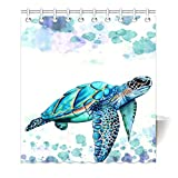 HommomH 65' x 72' Shower Curtain With Hooks Bathroom Anti-Bacterial Waterproof Comfortable Sea Turtle