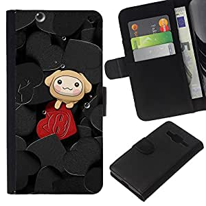 All Phone Most Case / Oferta Especial Cáscara Funda de cuero Monedero Cubierta de proteccion Caso / Wallet Case for Samsung Galaxy Core Prime // Cute Hearts