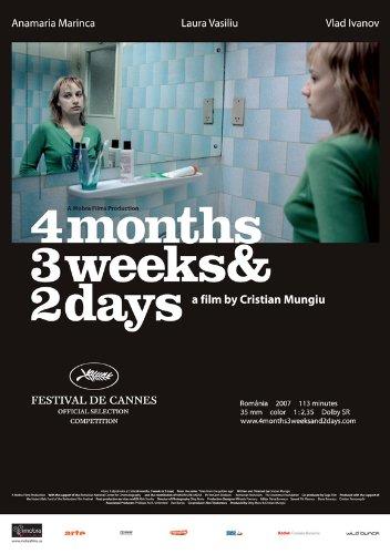 Amazon.com: 4 meses, 3 semanas y 2 días cartel Película F 11 ...
