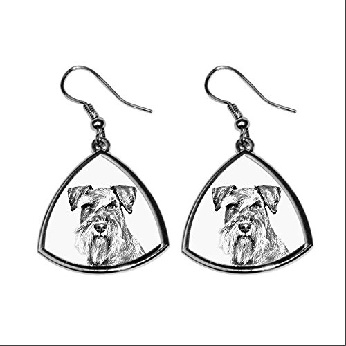 schnauzer-collection-of-earrings-with-images-of-purebred-dogs-collection-de-boucles-doreilles