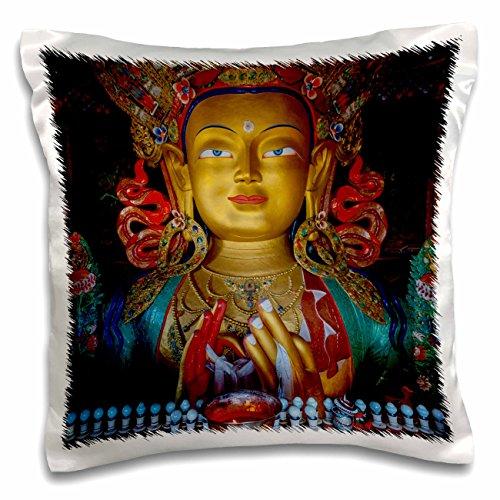 3dRose Jammu and Kashmir, Ladakh, Maitreya Buddha at Thiksey Monastery - Pillow Case, 16 by 16-inch (pc_188094_1)