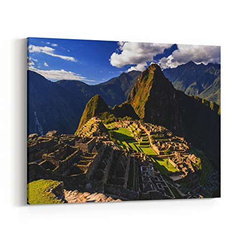 (Rosenberry Rooms Canvas Wall Art Prints - Machu Picchu, A Peruvian Historical Sanctuary in and A UNESCO World Heritage Site in One of The New Seven Wonders of The World (30 x 20 inches))