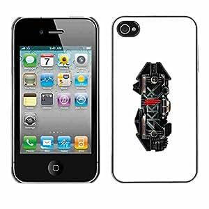 Shell-Star ( Skrillx Skrille Dubstep Electro Music ) Fundas Cover Cubre Hard Case Cover para Apple iPhone 4 / 4S