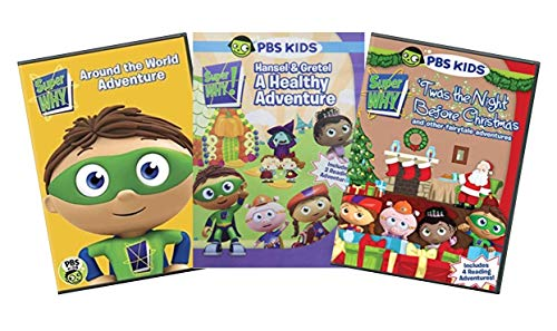 Ultimate PBS Super Why 3-DVD Learning Collection: Around the World Adventure / Hansel & Gretel: A Healthy Adventure / 'Twas the Night Before Christmas [SuperWhy Educational Set]