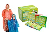 Family Pack Emergency Disposable Rain Ponchos- Perfect for...