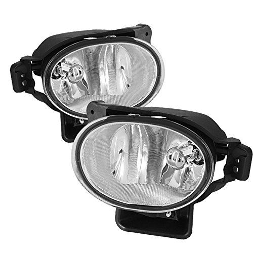 (For 2007-2008 Acura TL UA7 Chrome Clear Bumper Driver Fog Light Lamp with Bulbs)