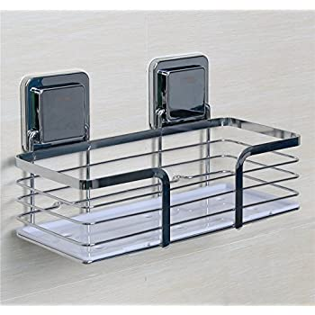 Amazon.com: Shower Caddy Stainless Steel, Bathroom Organizer Basket ...