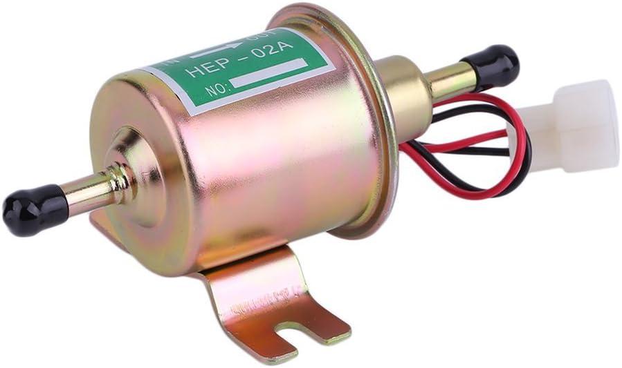 Winbang Bomba de Combustible Eléctrica, 12V Gas en Línea Coche Bomba de Combustible Eléctrica Bombas de Combustible para Motores de Gasolina Diesel Universales