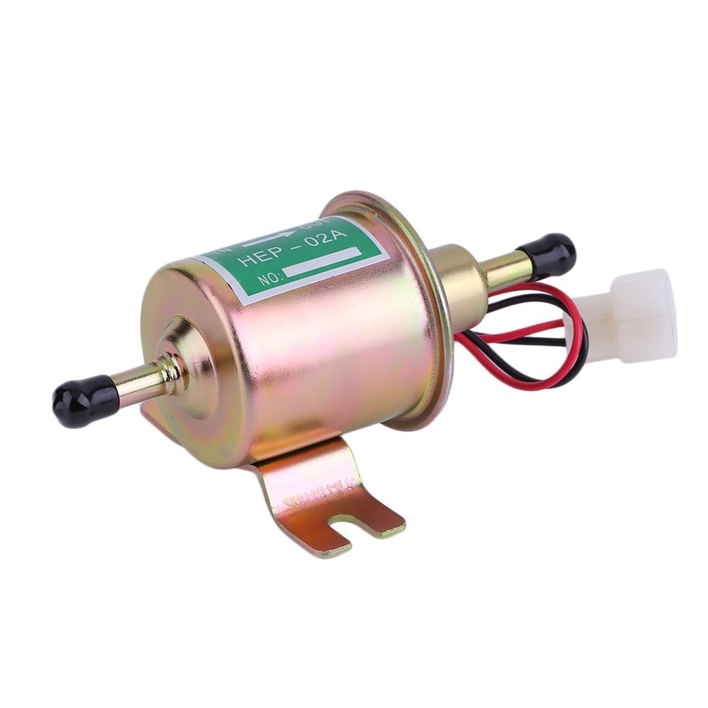 Bomba de combustible elé ctrica, aceite de la bomba de combustible del coche en lí nea universal del gas 12V para los motores diesel de la gasolina Winbang