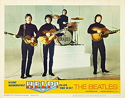 Amazon.com: Blujway The Beatles Help Lobby Card Movie Poster Replica 11 X  14 Photo Print: Posters & Prints