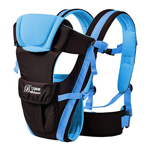 0-30 Months Baby Carrier, Ergonomic Kids Sling Backpack Pouch wrap Front Facing Multifunctional Infant Kangaroo Bag (Blue) from uarerise