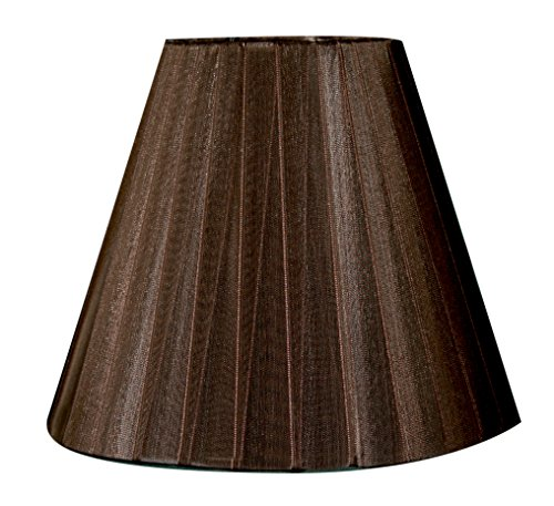 Royal Designs Brown Organza Fabric Empire Chandelier Lamp Shade, 3 x 6 x 4.5 (CS-1013-6) (Brown Shades Lamp)