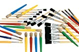 School Smart 85778 Young Artist Paint Brush Pack - Assorted Sizes - Set of 36 - Assorted Colors