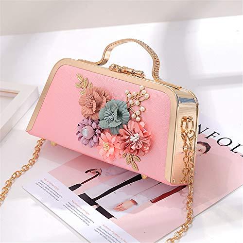 de perlée poignée Color avec perlée Mariage Lovely Gold rabbit à rétro de soirée Sac bandoulière Femme Sac Main Mariage Pink Fleur à qUTxZqz