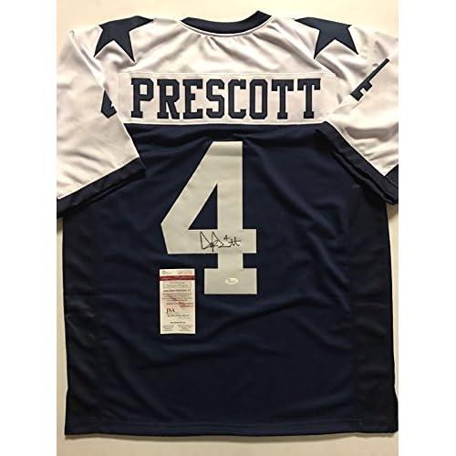 a71164c4a Autographed Signed Dak Prescott Dallas Cowboys Thanksgiving Day Football  Jersey JSA COA 85%OFF