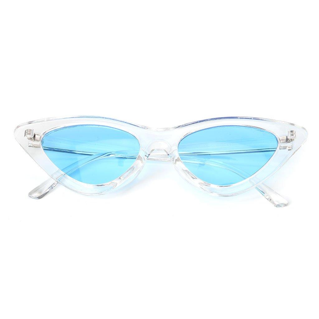 d040393d8e7b5 Manyo 2019 Lunettes de Soleil Œil de Chat Cadre Transparent Style de la  Marque de Mode Vintage ...
