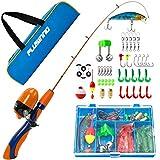 PLUSINNO Kids Fishing Pole,Portable Telescopic Fishing Rod and Reel Full Kits, Spincast Youth Fishing Pole Fishing Gear for Kids, Boys