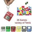 Manyao 新しいEDC 26in1テトリスポータブルハンドヘルドゲームコンソールおもちゃアンチストレスキーチェーン