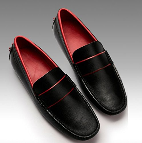 Happyshop Nuovo Arrivo Mens In Vera Pelle Mocassino Comfort Slip-on Driving Mocassini Neri