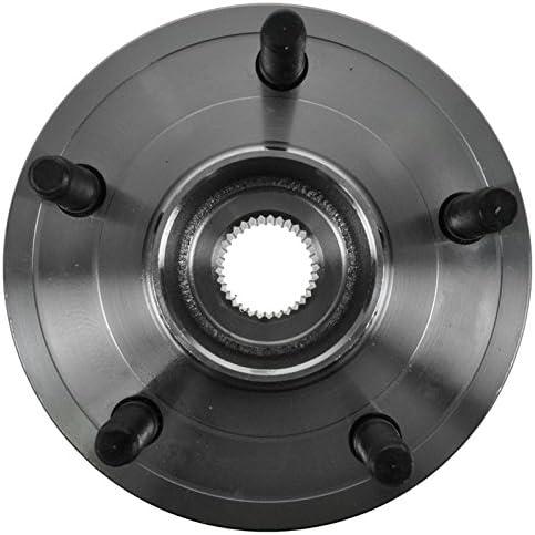 TRQ Front Wheel Bearing Hub Pair Set of 2 for Dodge Dakota Mitsubishi Raider