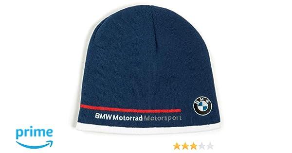 7421827c4c5 BMW Genuine Motorcycle Unisex Motorsport Knit Hat Cap Blue/White/Red One  Size